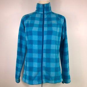 Columbia Plaid Fleece Jacket -A19